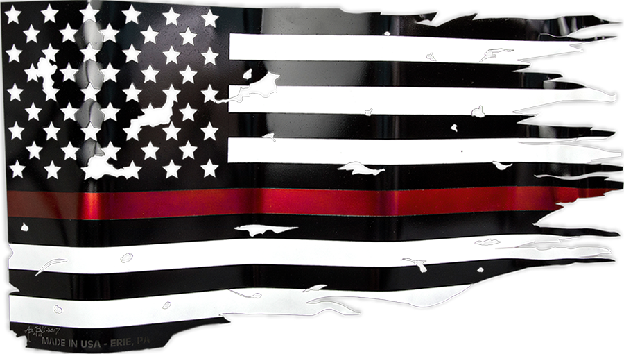 the thin red line american flag