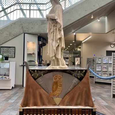 Minerva statue base sculpture